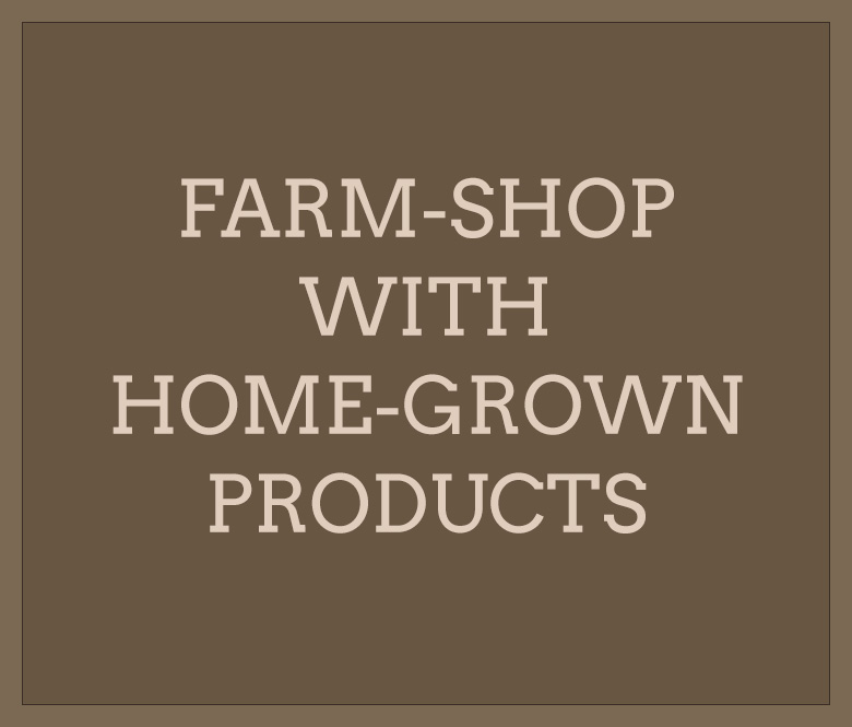 Farm-shop with home-grown products